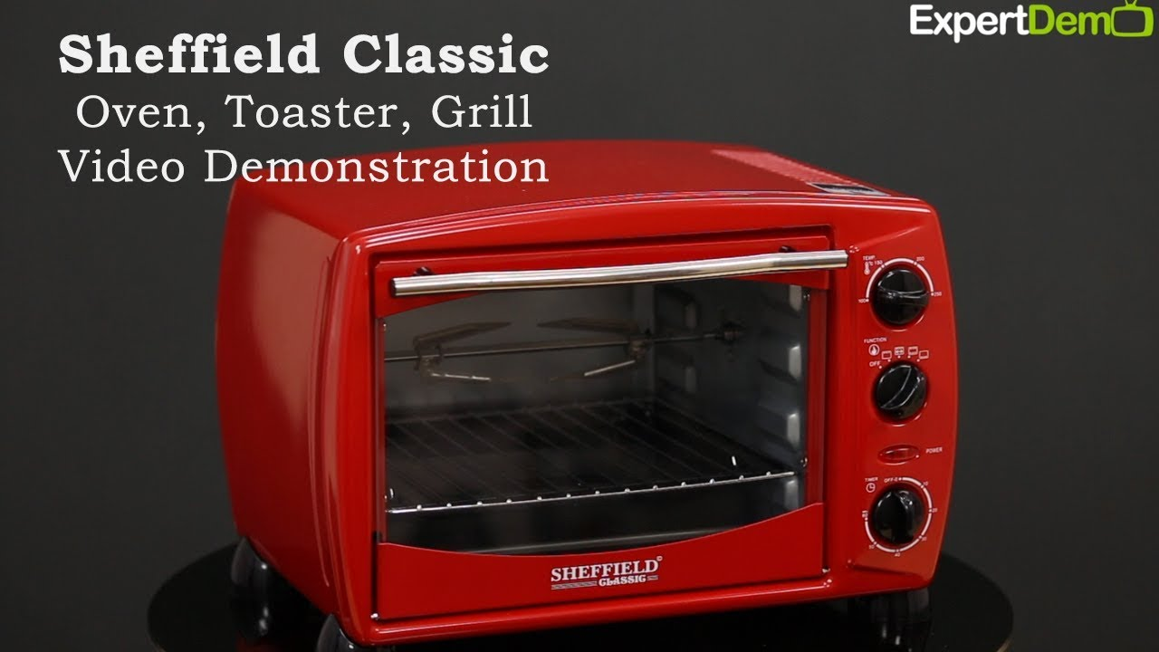 Sheffield Classic Otg Oven Toaster Grill Video