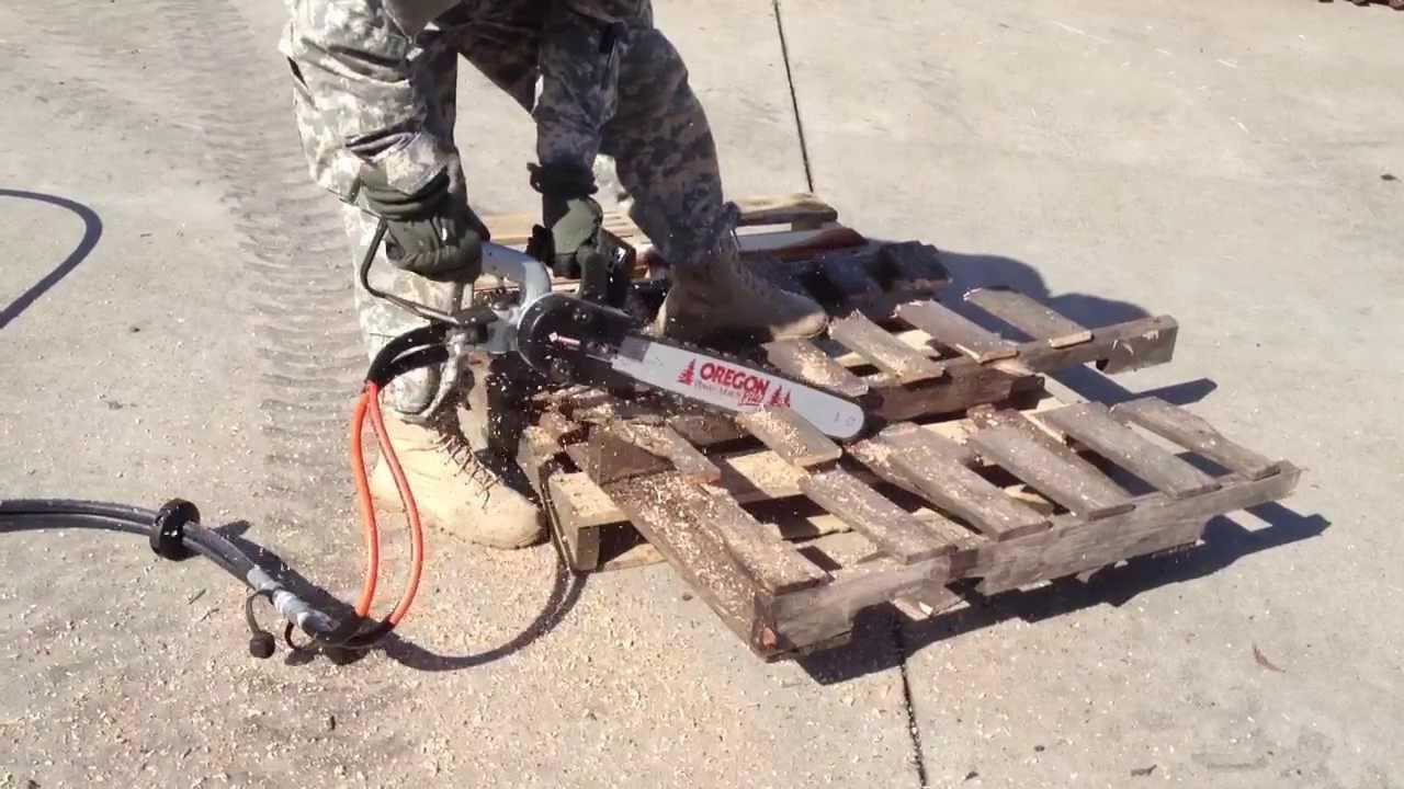 US Army hydraulic chainsaw training