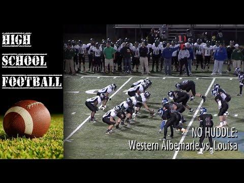 NO HUDDLE: Western Albemarle vs. Louisa - Week 11
