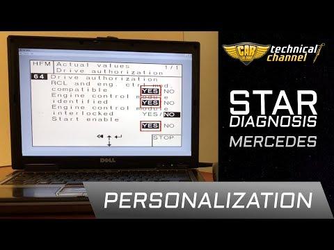 Mercedes ECU personalization using Star Diagnosis