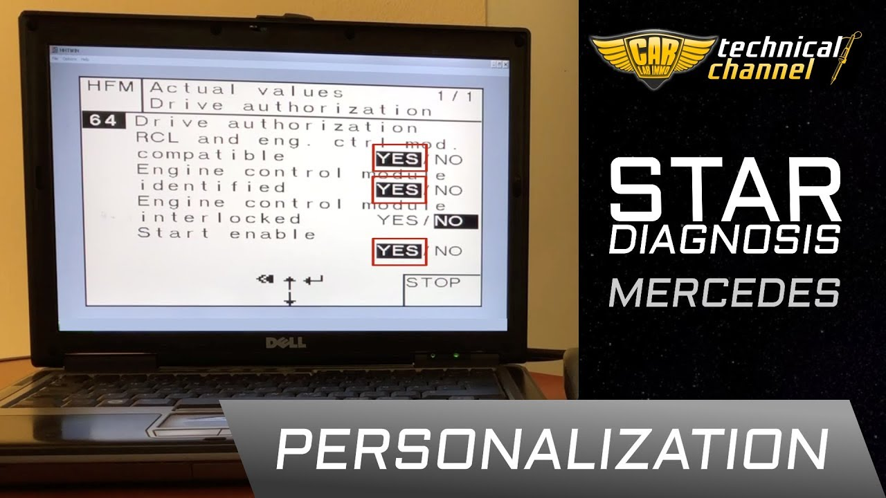 Mercedes Ecu Personalization Using Star Diagnosis Youtube