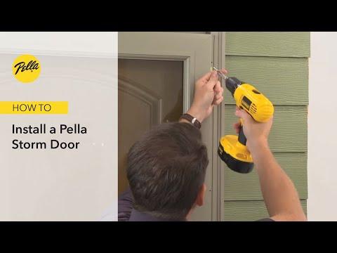 Express Installation of a Pella Storm Door