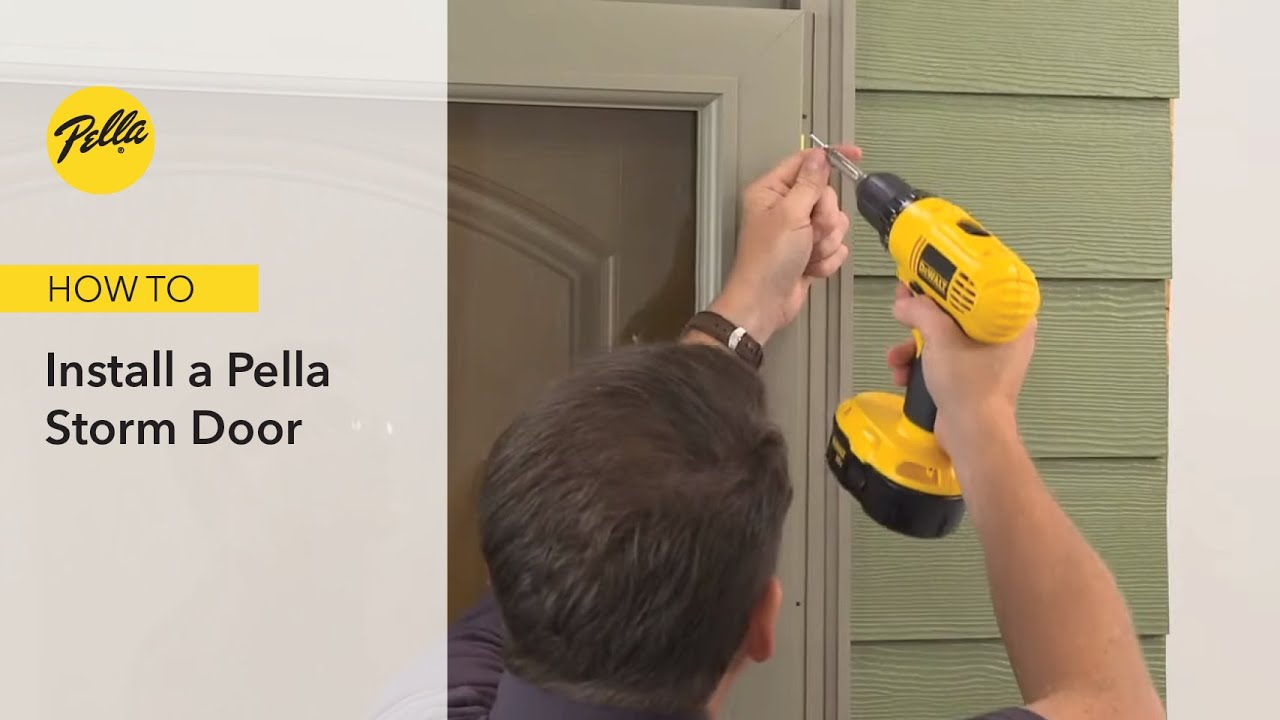 Express Installation Of A Pella Storm Door Youtube
