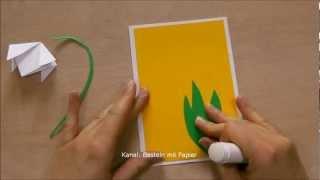 Osterkarten basteln - Einfache Bastelideen für Ostern selber machen - DIY Geschenkideen