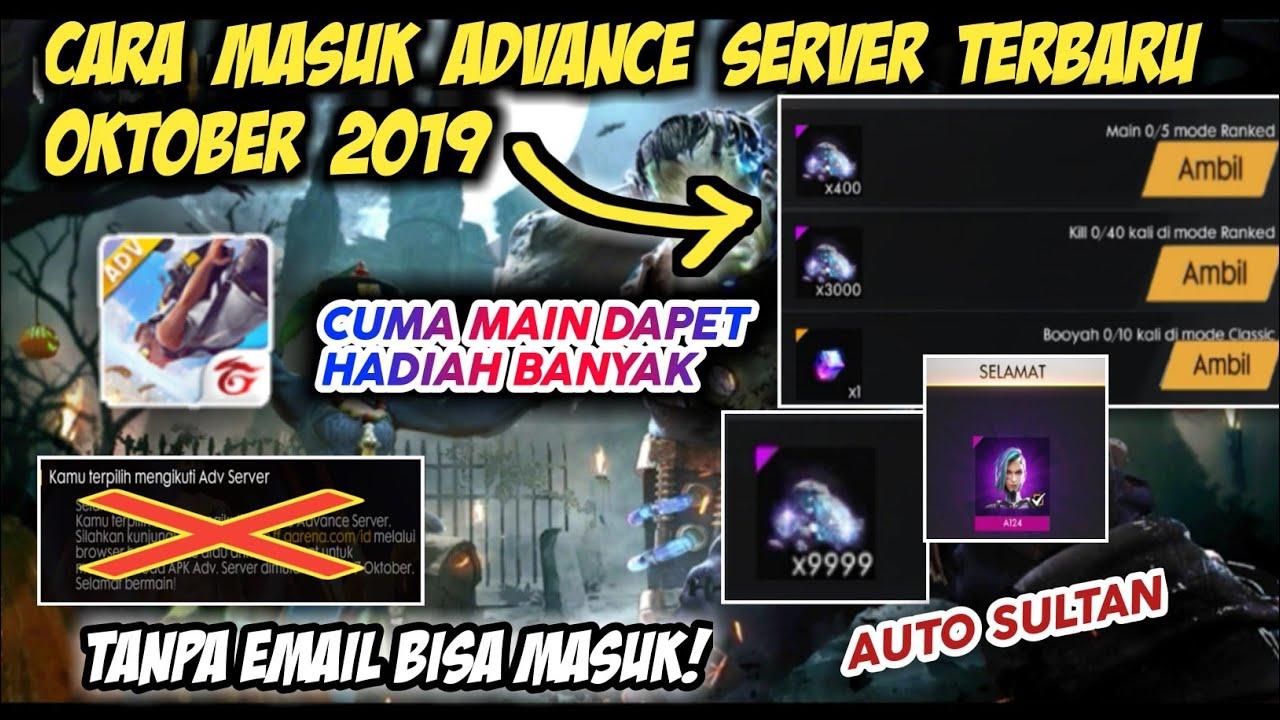 Cara Masuk Advance Server Freefire Terbaru Oktober 2019 Garena Indonesia Youtube