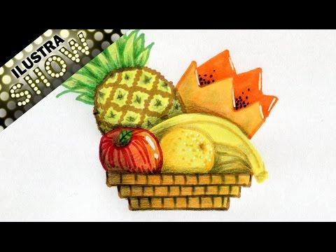 Como Dibujar Una Cesta De Fruta Bodegones Frutas Tutorial Ilustra Show