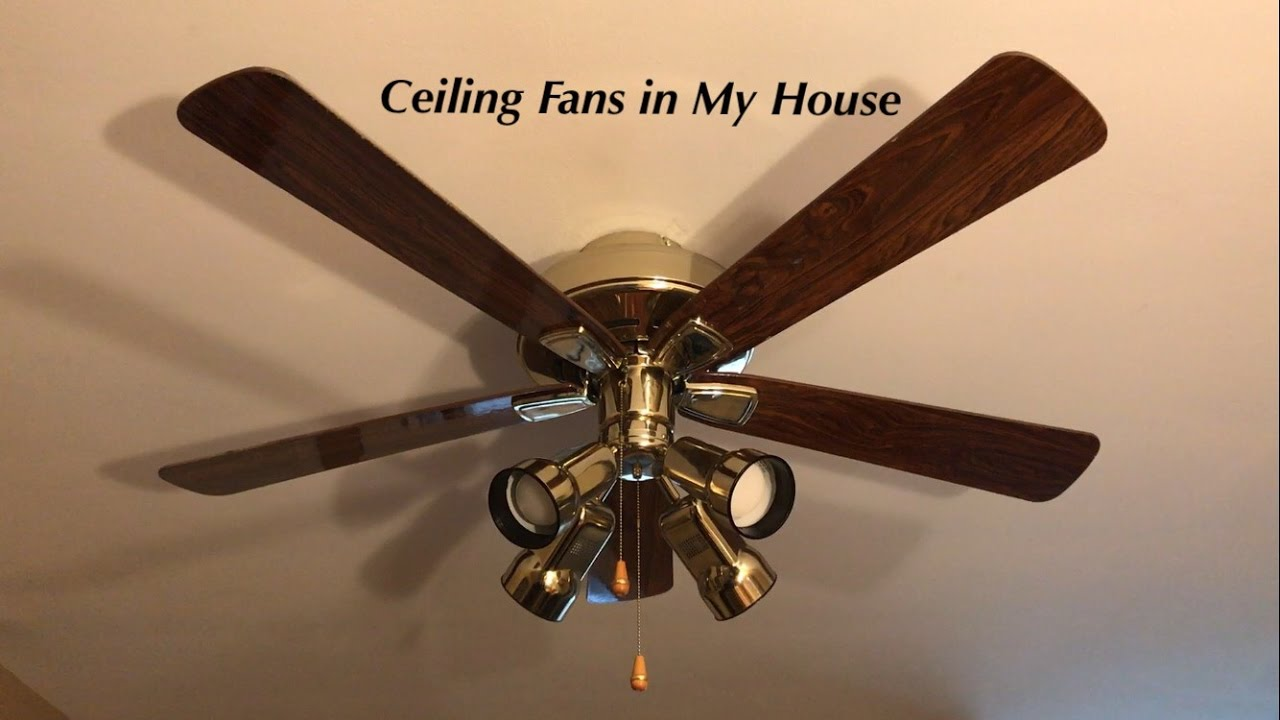 Ceiling fans in my house youtube aloadofball Images