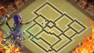Clash of Clans - BEST COC TH9 WAR BASE [2016] LAYOUT - March 2016 UPDATE - How to Win Every War!