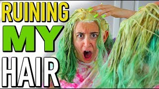 Destroying My Hair EVEN MORE!!