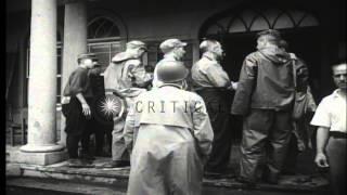 Liberation of American prisoners from Urawa prison camp in Saitama, Japan towards...HD Stock Footage