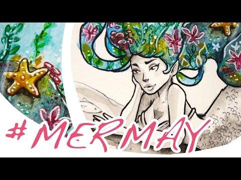 #MerMay Speed Painting (Mixed Media)