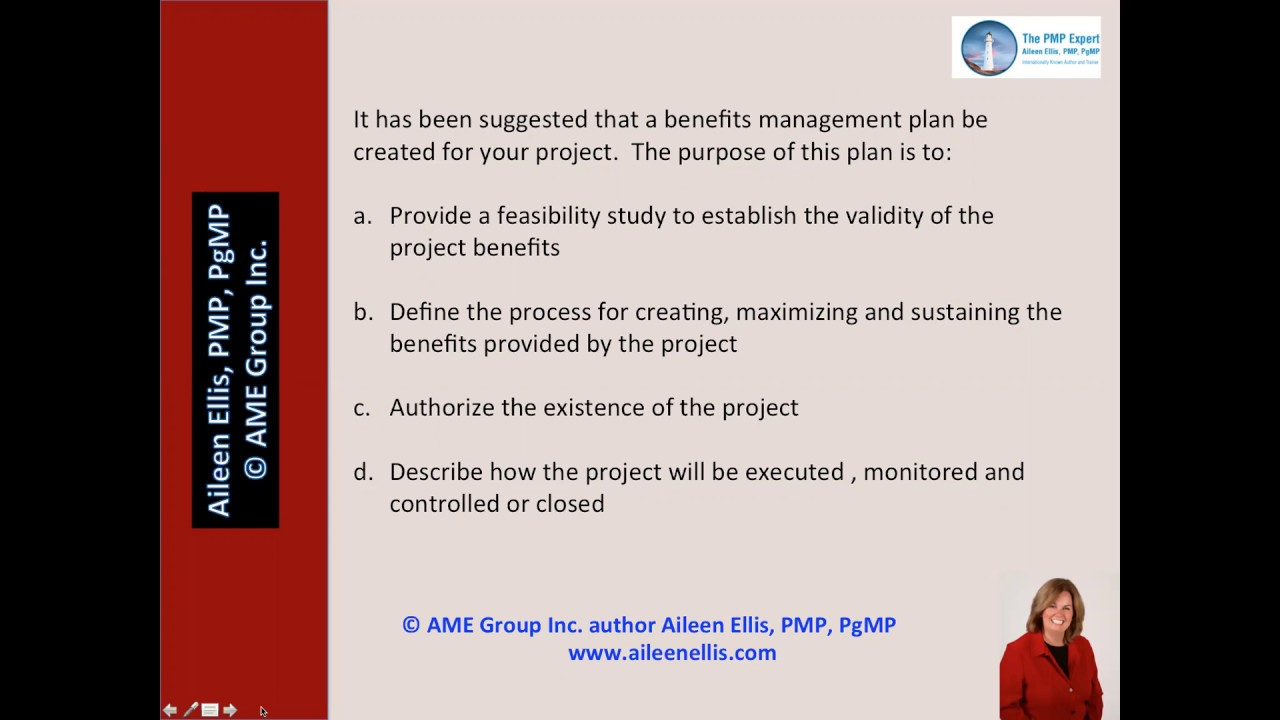 Pmp exam benefits management plan with aileen ellis youtube pmp exam benefits management plan with aileen ellis xflitez Gallery