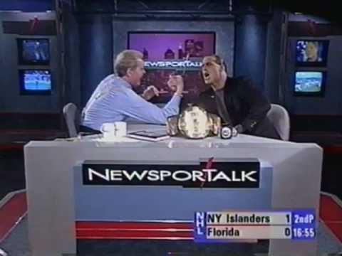 "Chet Coppock & Sean ""Boy Toy"" Michaels Arm Wrestle 1996"
