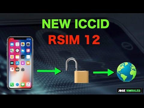 NEW ICCID RSIM 12 - iOS 12.2 WORKING  - APRIL 22  2019