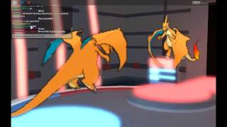 Roblox Pokemon Brick Bronze - Charizard X vs Charizard Y