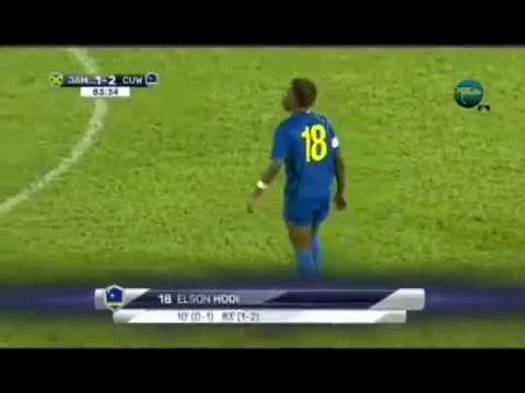 Elson Hooi winning goal for Curaçao vs Jamaica in final Carribean Cup 2017