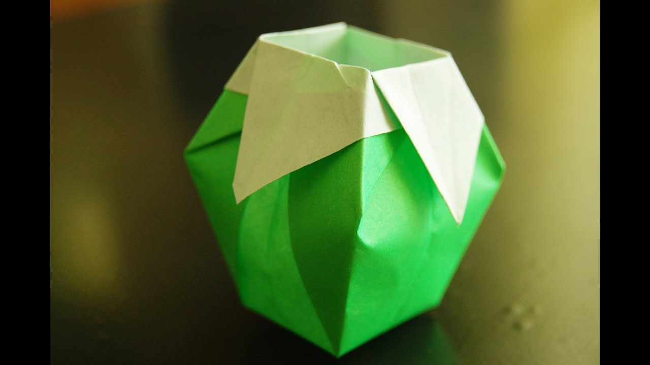 How to make paper vase origami youtube how to make paper vase origami reviewsmspy