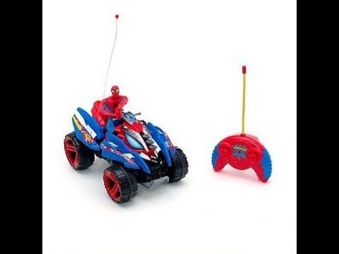 Spiderman quad moto et voiture jouet spiderman jouets youtube - Spiderman voiture ...