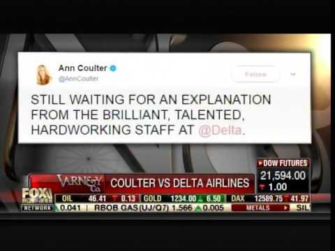 Delta Airlines Respond to Ann Coulter: Here's 30 Bucks Now Shut the Hell Up
