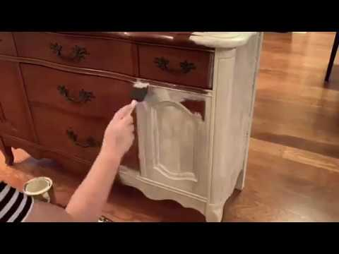 French Friday DIY ~ Layering paint for an aged patina style ~ French Provincial Cabinet