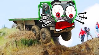 Extreme Monster Truck Off Road Crashes & Fails | Off Road Doodles Vehicle Mud Race | Woa Doodland
