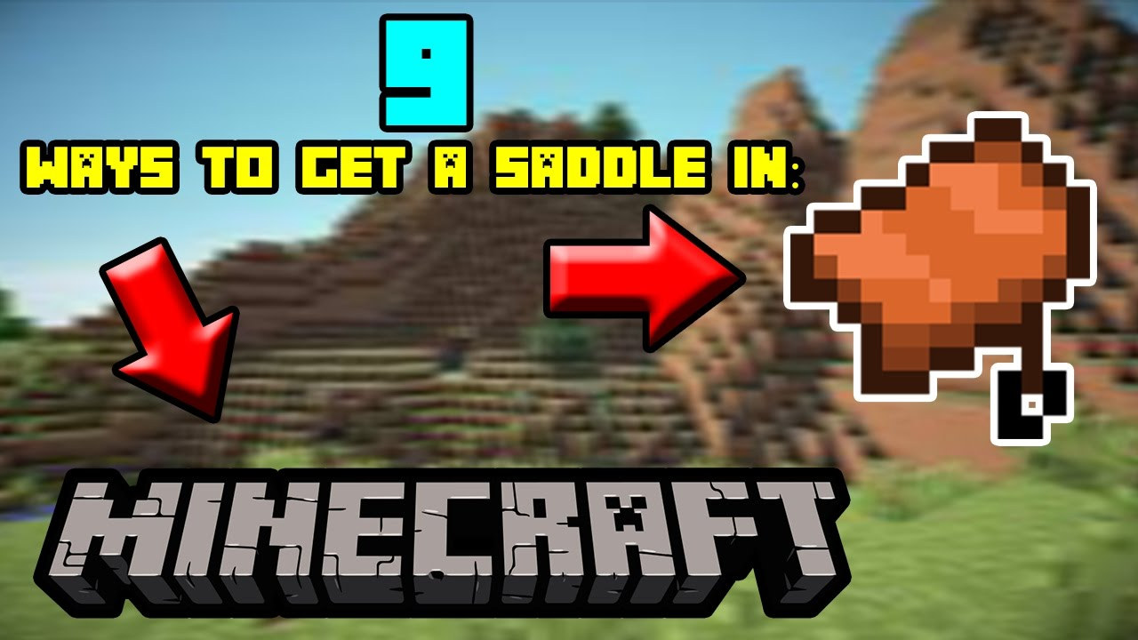 9 Ways To Get The Saddle In Minecraft Youtube