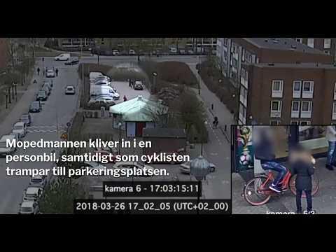 Skjutningen fångades av övervakningskamerorna