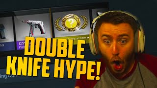 One of GoldGloveTV's most viewed videos: DOUBLE KNIFE HYPE?! (CS:GO Case Opening) $800 Opening Part 2