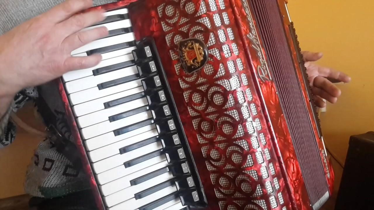 Royal Standard (Weltmeister) Silvana 96 Bass LMMH Accordion Fisarmonica Red  AC352(1)