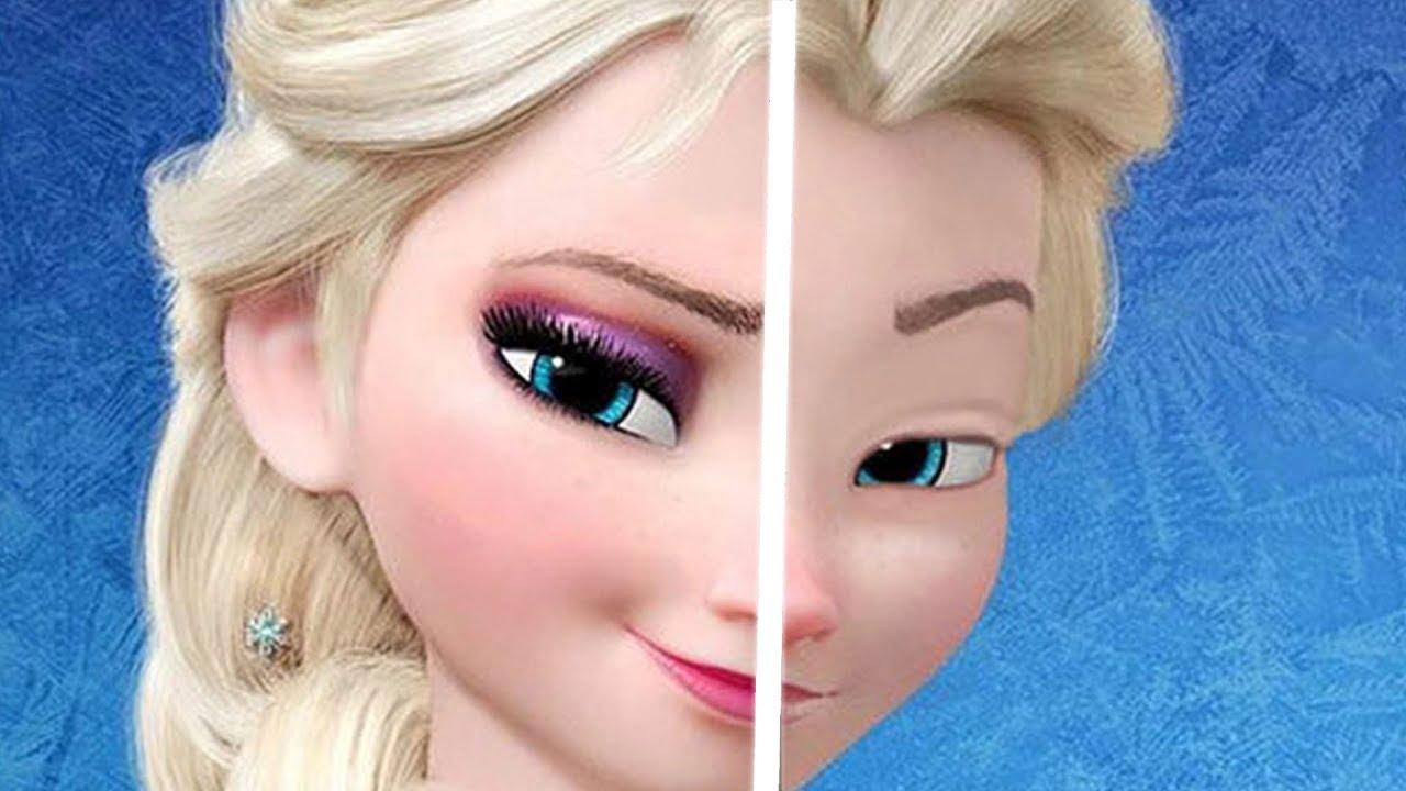 Disney Prenseslerinin Makyajsız Halleri