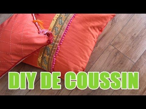 2 id es pour customiser vos coussins diy avec youmakefashion youtube. Black Bedroom Furniture Sets. Home Design Ideas