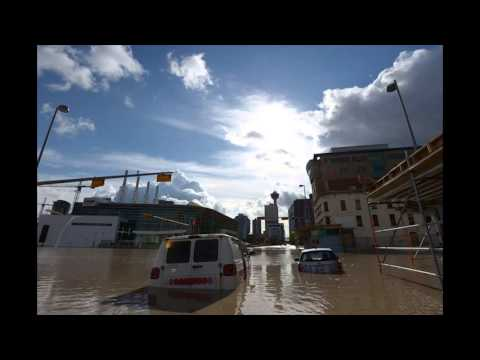 Calgary Downtown Flooding Alberta Floods June 2013