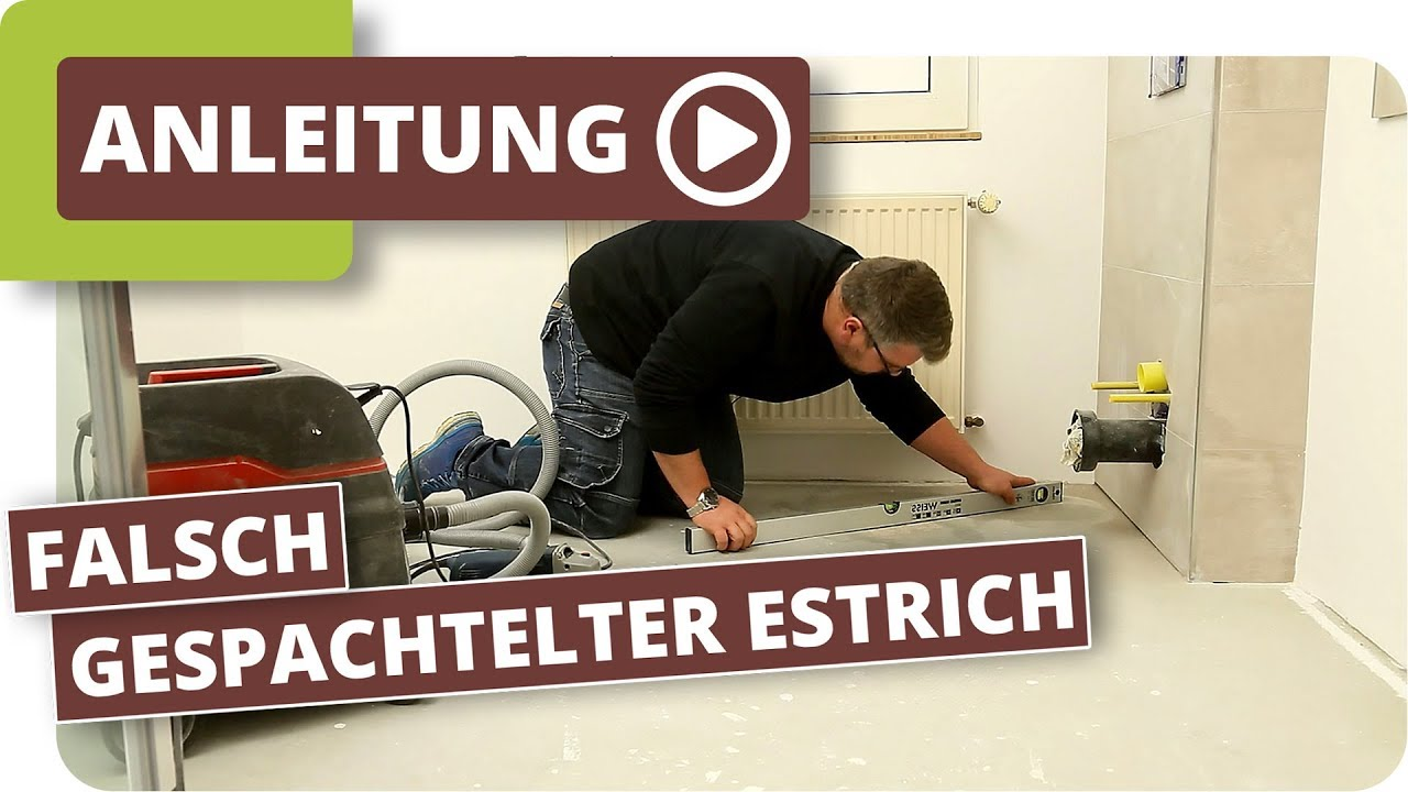 Fußboden Ausgleichen Ohne Estrich ~ Falsch gespachtelter estrich bodenwellen ausgleichen youtube