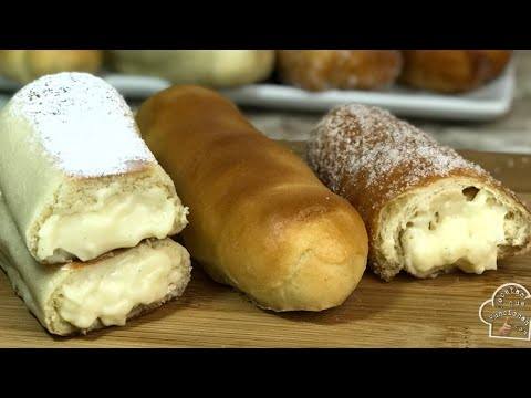 pan-dulce-filled-with-cream-and-frying-pan