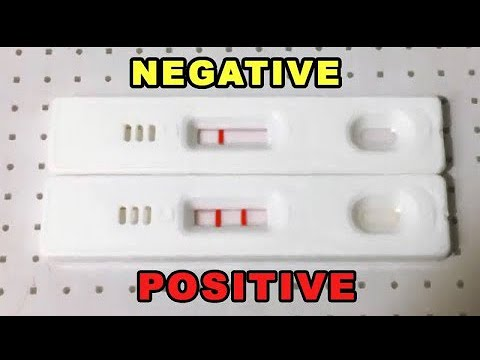 PREGNANCY TEST POSITIVE  AND NEGATIVE