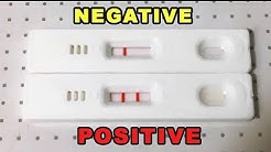 PREGNANCY TEST POSITIVE  AND NEGATIVE RESULTS