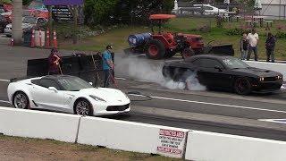 Hellcat vs z06 Corvette - drag race