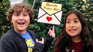 Maria Clara e JP escrevem para o Papai Noel e compram uma Árvore de Natal
