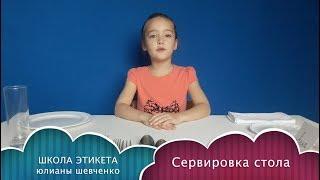 Сервировка стола для детей от Школы этикета Юлианы Шевченко. Правила этикета для детей