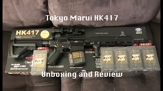 Tokyo Marui HK417 Airsoft Unboxing and Review Next Generation Recoil Shock