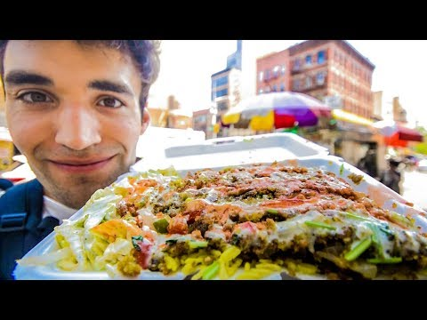 LIVING on STREET FOOD for 24 HOURS in NYC!