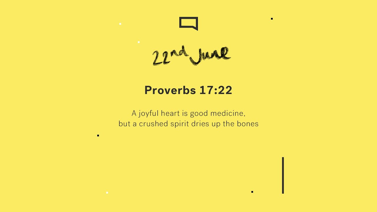 Daily Devotion with Matt Davis // Proverbs 17:22 Cover Image