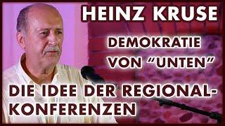 Heinz Kruse: Volksdemokratie und Regionalkonferenzen