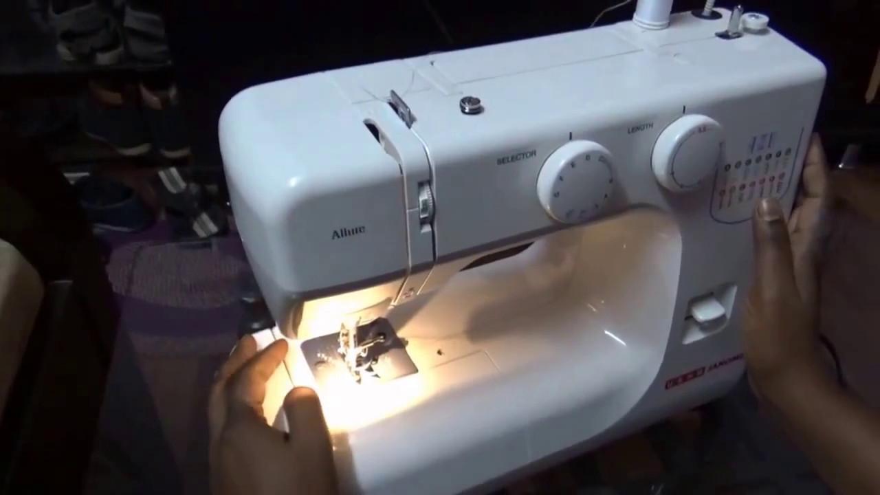 c0c063c9d7c USHA JANOME ALLURE sewing machine introduction in Hindi - YouTube