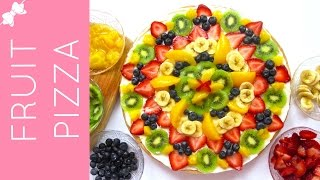 Sugar Cookie Fruit Pizza With Cream Cheese Frosting