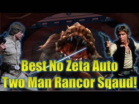 Star Wars Galaxy of Heroes: Best No Zeta Auto Solo Rancor Raid Squad! (CLS and Han Solo!)