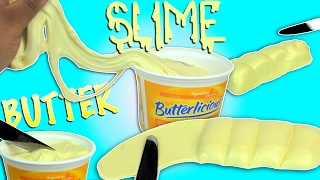 DIY BUTTER SLIME! - Super easy butter slime recipe ! How to make fluffy slime without shaving cream