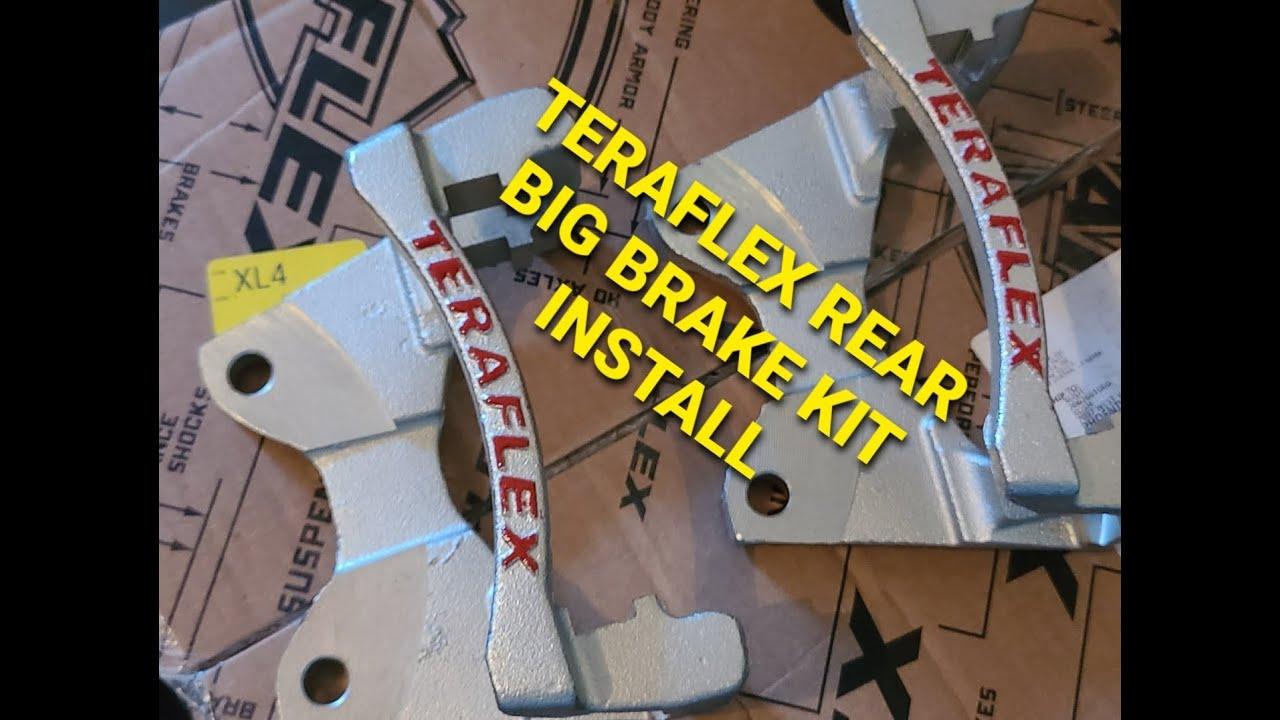 Teraflex Rear Big Brake Kit Jeep JKU Install