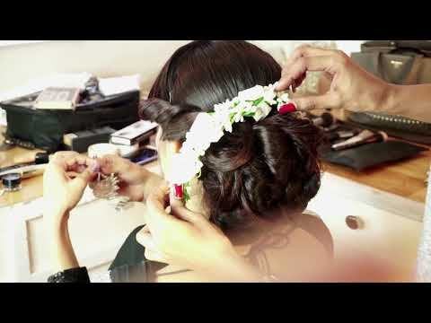 Floral Braid Allure Bun with Indian Sari |  Stylish Traditional  Indian hair style