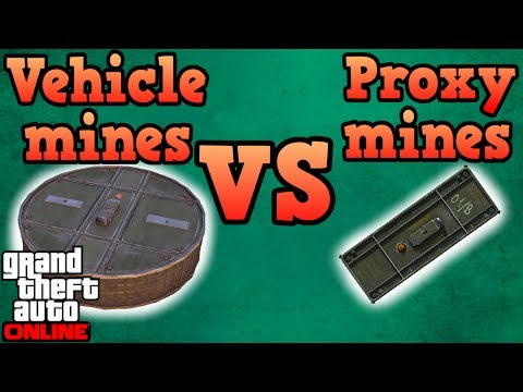 Vehicle Mines VS Proximity Mines! - GTA Online